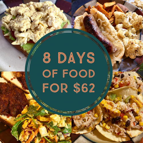 Read more about the article What Did We Eat This Week – How to Eat Well on a Budget • Week 1 of a full month!