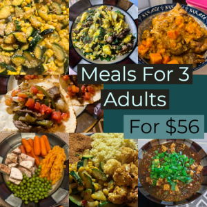 One Week of Meals for $56