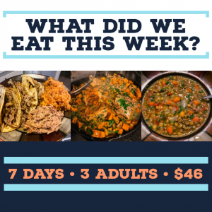 Full Week of Meals for $46