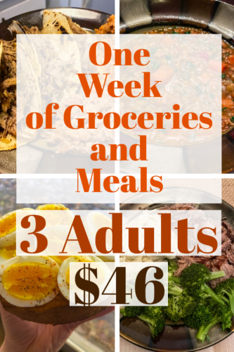 Groceries for less than $50