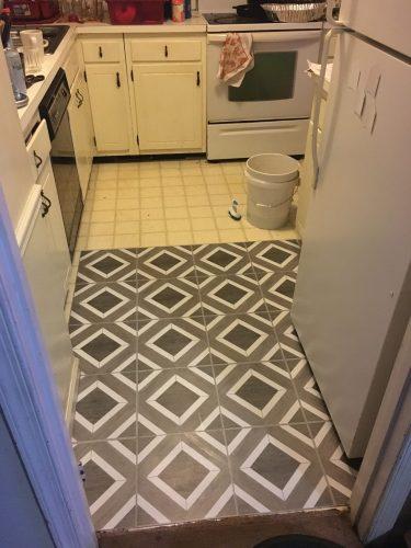 Peel and Stick Tile Floor Installation
